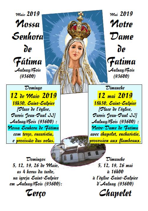 Notre Dame de Fatima mai 2019