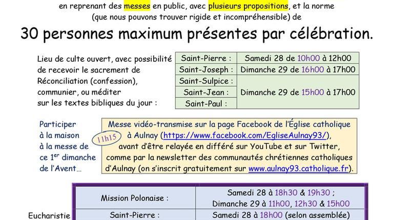 1er dimanche de l'Avent à Aulnay