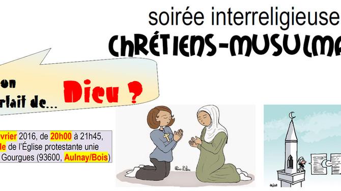 Rencontre interreligieuse le 8 février 2016 à Aulnay-sous-Bois