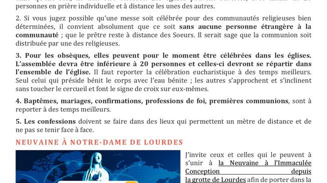 Communiqué de Mgr Pascal Delannoy du 17 mars