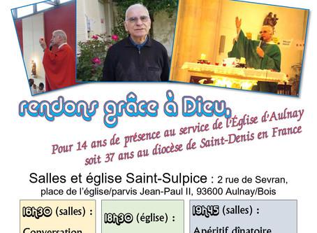 Action de grâce Aulnay père Gérard