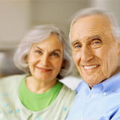 smiling-senior couple