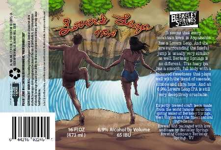 Lovers Leap IPA Label 4x6