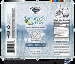 earl grey tea seltzer label