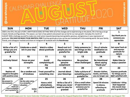 August 2020 Calendar Challenge