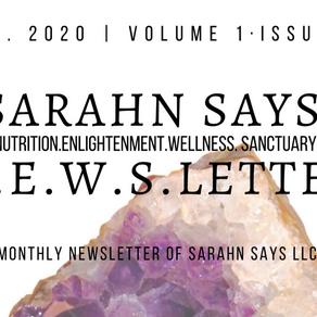 Sarahn Says February 2020 N.E.W.S.Letter