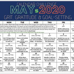 MAY 2020 Calendar Challenge