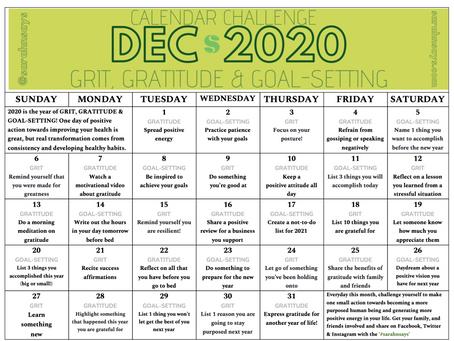 December 2020 Calendar Challenge