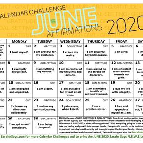 JUNE 2020 Calendar Challenge