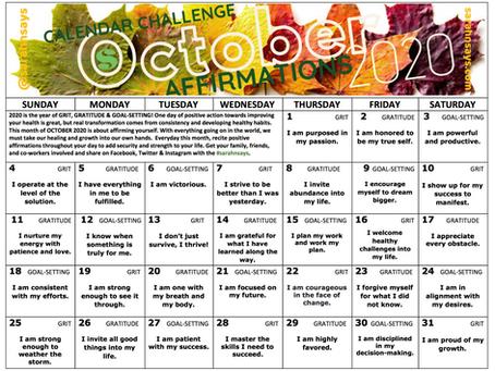 October 2020 Calendar Challenge