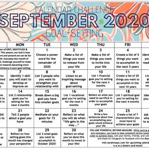 SEPTEMBER 2020 CALENDAR CHALLENGE