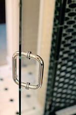 shower custom glass polished nickel