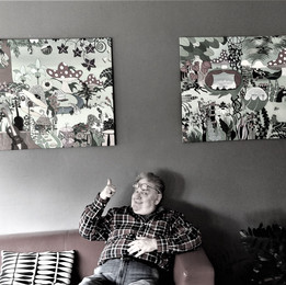Ole Thestrup og mine malerier