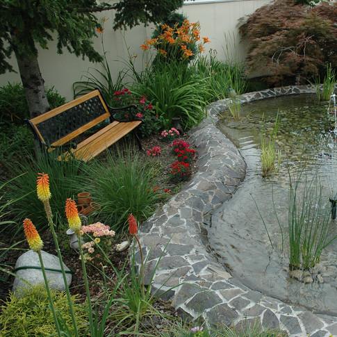 Výstavba jazierok, potôčikov, fontániek