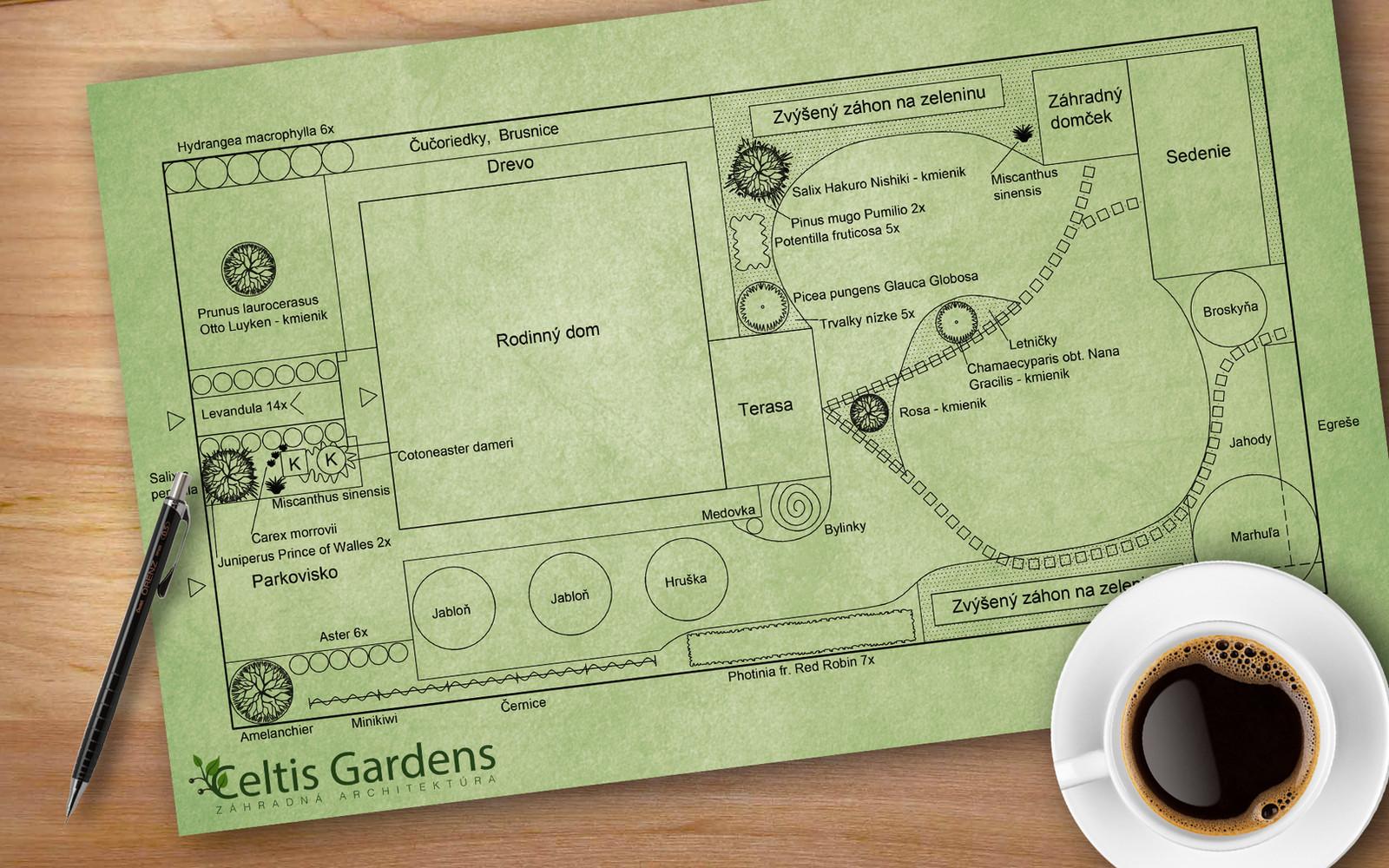 Návrh riešenia okrasnej záhrady