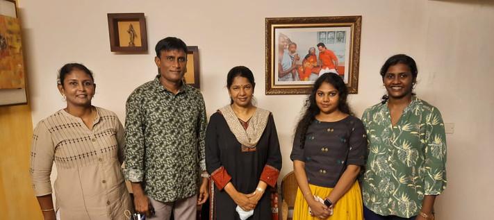Honourable MP Kanimozhi and Khelo Team