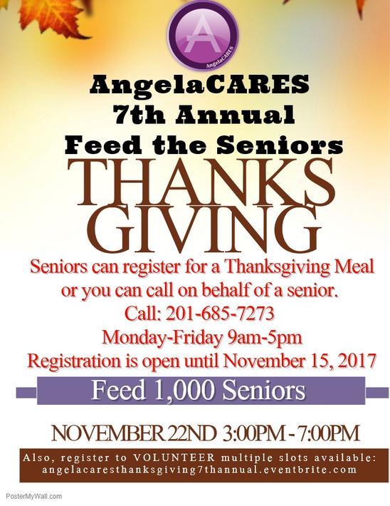 AngelaCARES, Inc. 7th Annual Thanksgiving Feed the Seniors - November 22, 2017