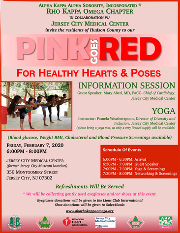 PINK GOES RED FOR HEALTHY HEARTS & POSES - Friday, February 7, 2020