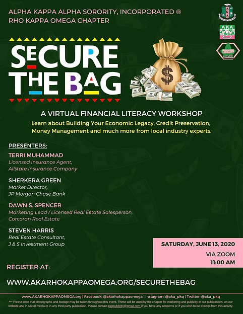 Secure the Bag Financial Literacy Worksh