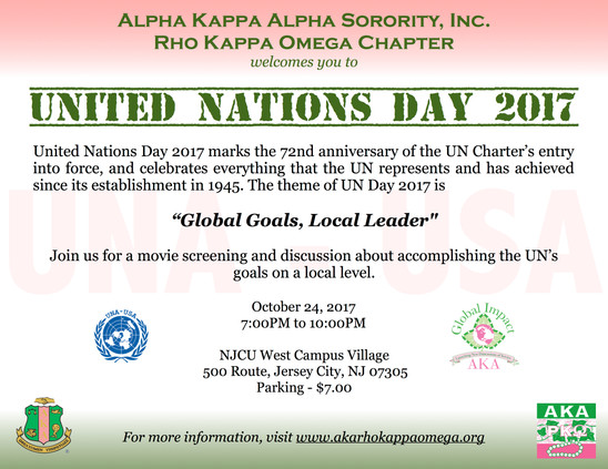United Nations Day 2017 - October 24, 2017