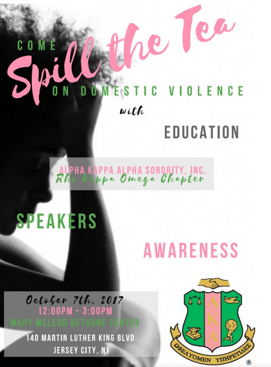 Spill The Tea on Domestic Violence - October 7, 2017