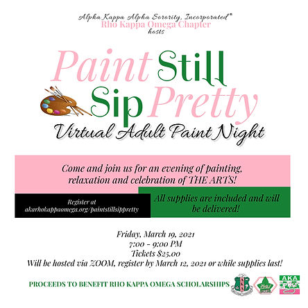 Copy of Sip and Paint - Made with Poster