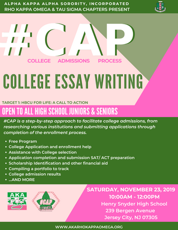 #CAP: COLLEGE ESSAY WRITING - November 23, 2019