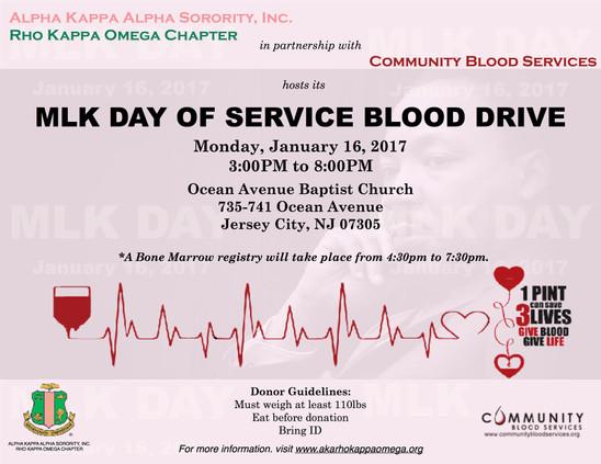 MLK Day of Service Blood Drive - January 16, 2017