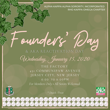 Founders' Day & AKA Reactivation Day - January 15, 2020