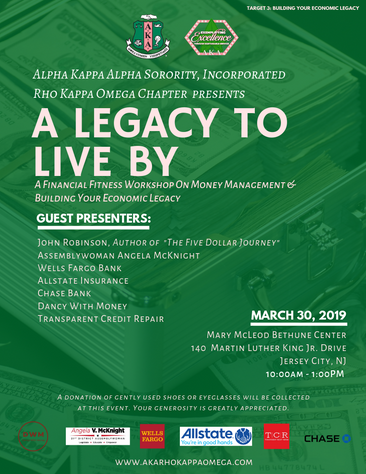 A Legacy To Live By: Financial Fitness Workshop - March 30, 2019