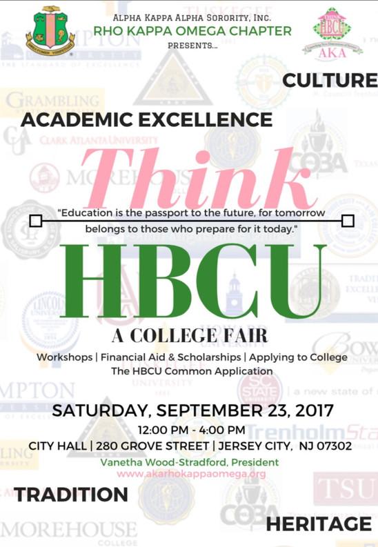 Think HBCU: a FREE College Fair - September 23, 2017