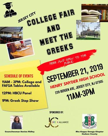 College Fair & Meet The Greeks - September 21, 2019