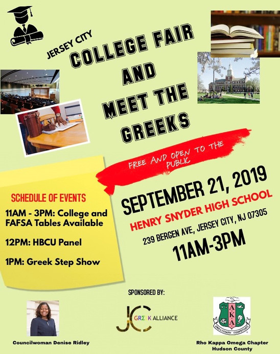 College Fair & Meet The Greeks - September 21, 2019