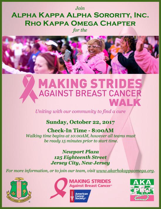 Breast Cancer Walk - Sunday, October 22, 2017