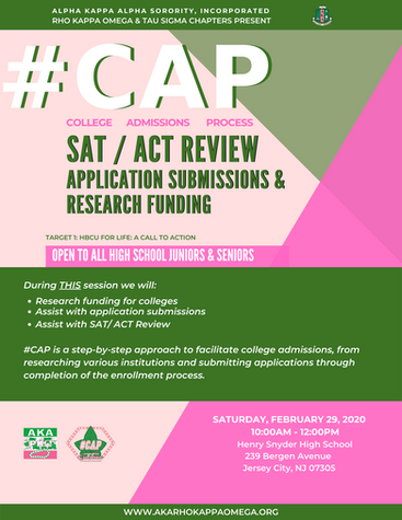 #CAP: SAT / ACT REVIEW |  APPLICATION  SUBMISSIONS & FUNDING - February 29, 2019