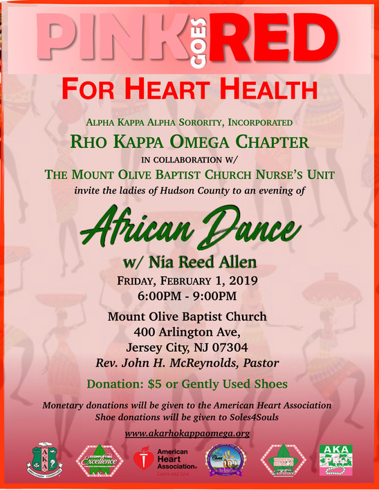 PINK GOES RED FOR HEART HEALTH: An Evening of African Dance