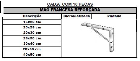 MÃO FRANCESA REFORÇADA