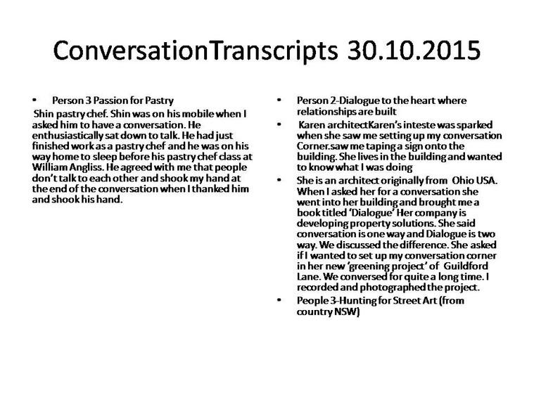 Sandra Tobias In Conversation 2015