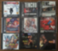 PS1 jeux collection tobal tenchu tintin thousand arms