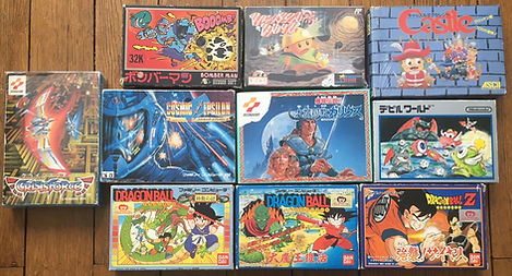 Nintendo Famicom Dragonball crisis force cosmic epsilon devil world bomberman
