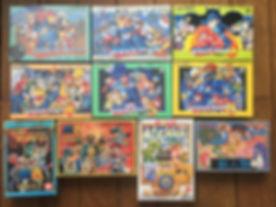 Nintendo Famicom Rockman 1 2 3 4 5 6 Saint Seiya seirei densetsu lickle shinjinrui little samson