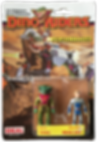 Dino Riders serie 1 ideal mercury fang pack blister