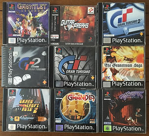 PS1 jeux collection gauntet grandia gran turismo