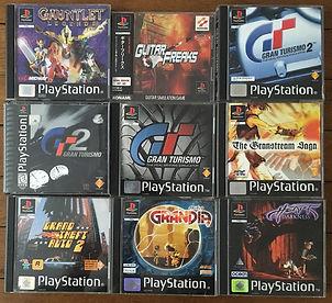 PS1 jeux collection gauntet grandia gran turismo