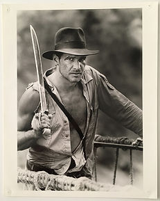 Indiana Jones Harrison Ford photo de tournage promotionnelle