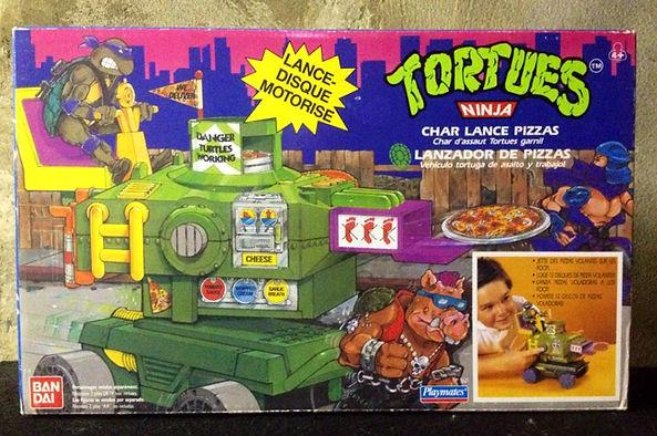 TMNT Tortues Ninja Lance-pizzas Char Bandai FR neuf