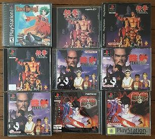 PS1 jeux collection tekken 3 tales of destiny 2
