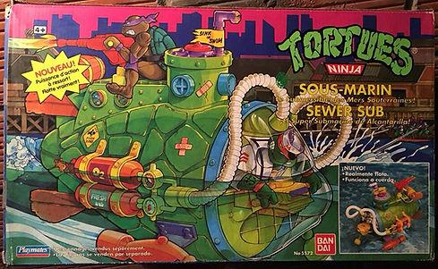 TMNT Tortues Ninja Sous-Marin playmates 1991 NEUF sealed