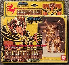 Saint Seiya Chevaliers du zodiaque gold or sagittaire aiolios sagittarius bandai france vintage made in taïwan