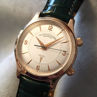 Jaeger Lecoultre Memovox or rose gold